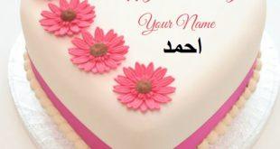 تورتة اعياد ميلاد 2020 مكتوب عليها احمد , اجمل تورت عيد ميلاد مكتوب عليها احمد - صور حب