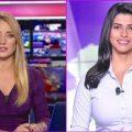 الجميلتان لارا نبهان و كريستيان بيسري _ أجمل مذيعات قناة الحدث - YouTube