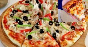 بيتزا المحلات السحرية بكل اسرارها جبنة مطاطية وعجينة هشه وطرية جدا من الاخر  هخليكي استاذه فيها - YouTube