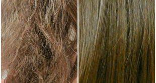 الشعر المحترق من الصبغات