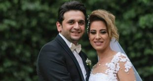 صورة- بهذه الكلمات احتفل مصطفى خاطر بعيد زواجه الأول | خبر | في الفن